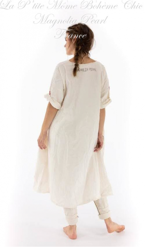 Amor Artist Smock Robe En Popeline En Moonlight