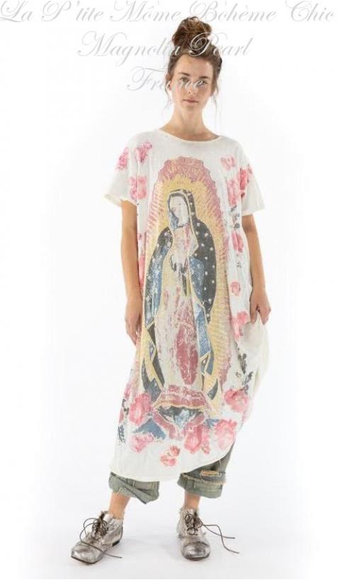 Amor Applique Tee Dress in Moonlight & Color Print