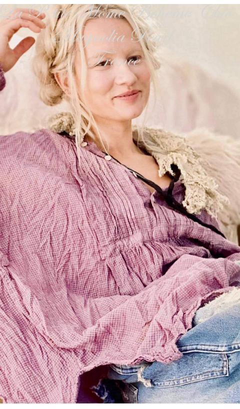 Cordelia Night Shirt In Pinot Noir Cotton With Pintuck Bib