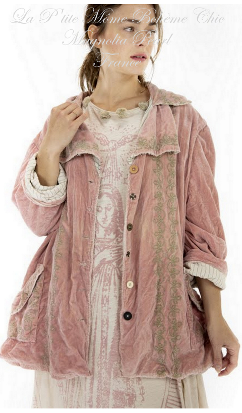 Rosalie jacket with embroidery In Solrose
