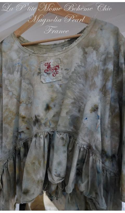 Specialty Wren Top In Tie & Dye Hand Printed