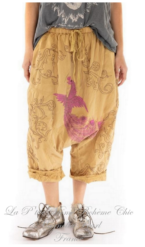Garcon Pants with Embroidery In Marigold