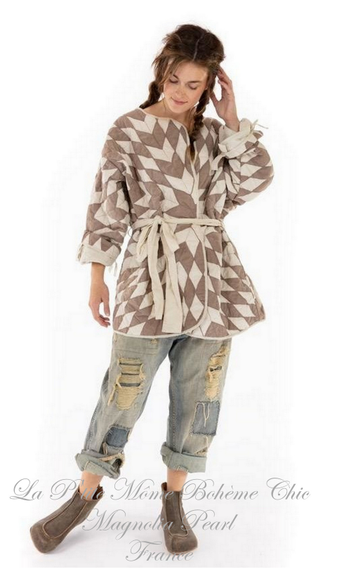 Quilted Aleda Coat In Canopy With Printed Lining