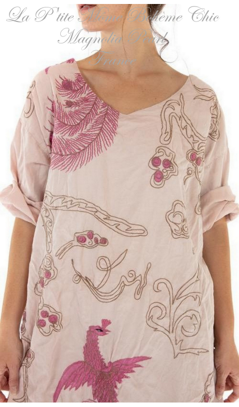 Dragon Parnassus Tunic with Embroidery In Lilanc