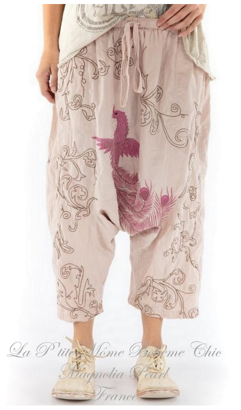 Dragon Garcon Pants with Embroidery In Lilac