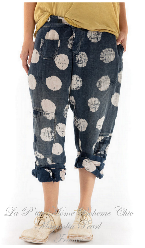 Whitley Pants with Button Waist, Patching In Intuition