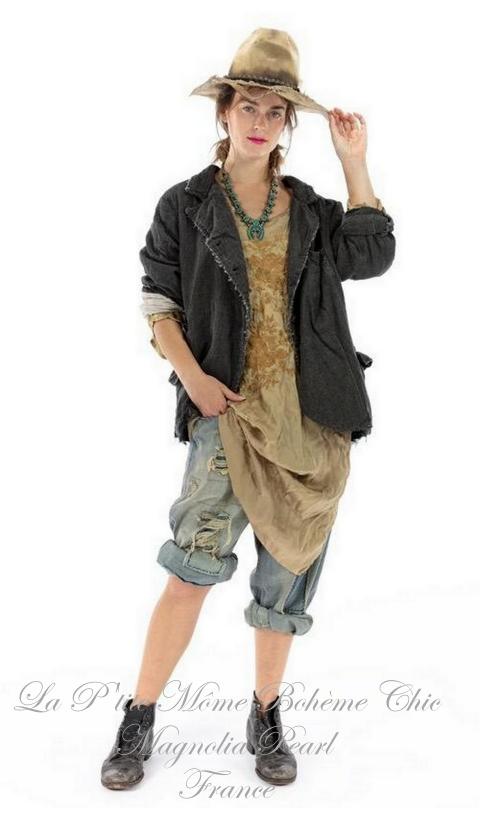 Patchwork SAFFI jacket In Pinstripe