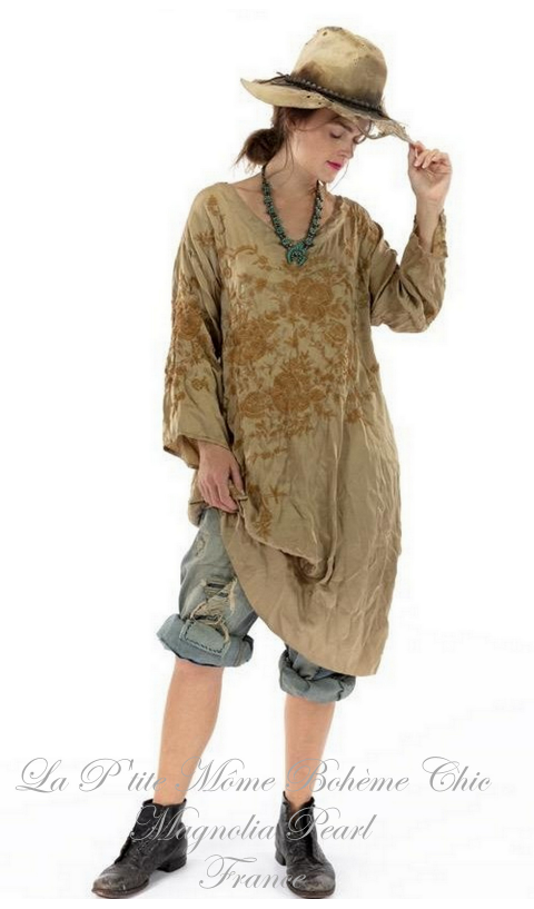 Parnassus Tunic with Embroidery In Marigold