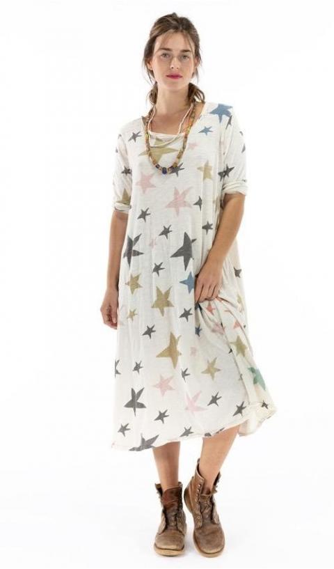 Dylan T Dress in Clouseau Cotton Jersey