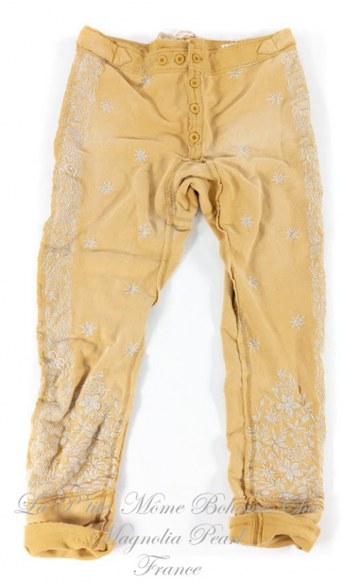 Whistlestop Underjohns Embroided In Marigold Like Our Grand Dad's Underwear