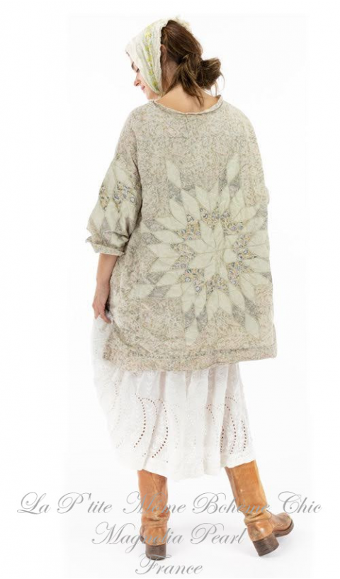 Poplin Quilted Oversized Francis Top In Cherish