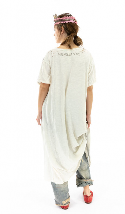 Freedom of Conscience T Dress In Moonlight Rounded Neck