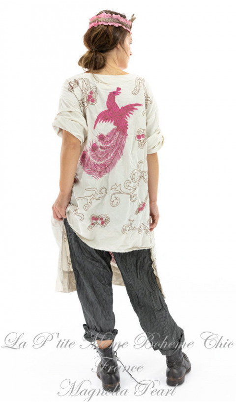 Dragon Parnassus Tunic with Embroidery In Moonlight