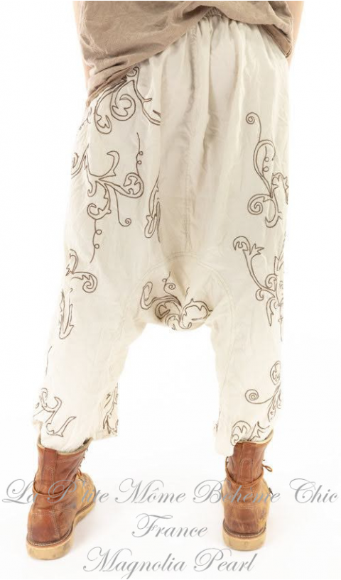 Dragon Garcon Pants In Moonlight with Embroidery