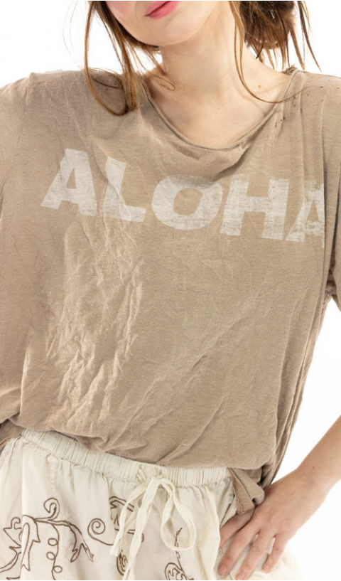 Aloha Tee Boyfriend Cut in Clay
