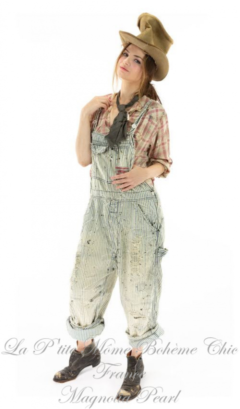 Kelly Western Shirt In Clarabelle with Fading, Distressing and Paint