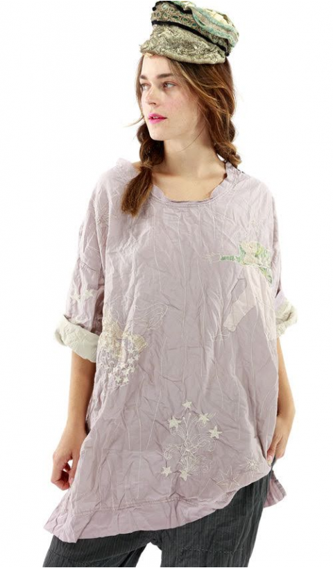 Quilted Oversized Francis Pullover In Pony Embroideries Apllique