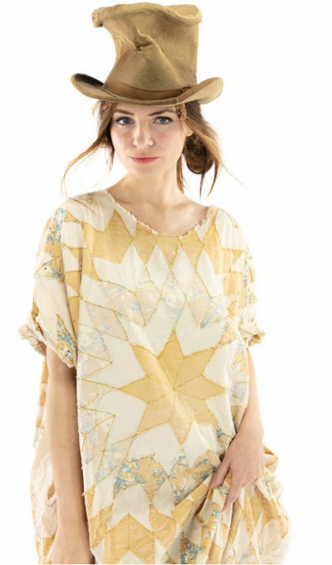Quiltwork Artist Smock Dress In Marisol with Pockets