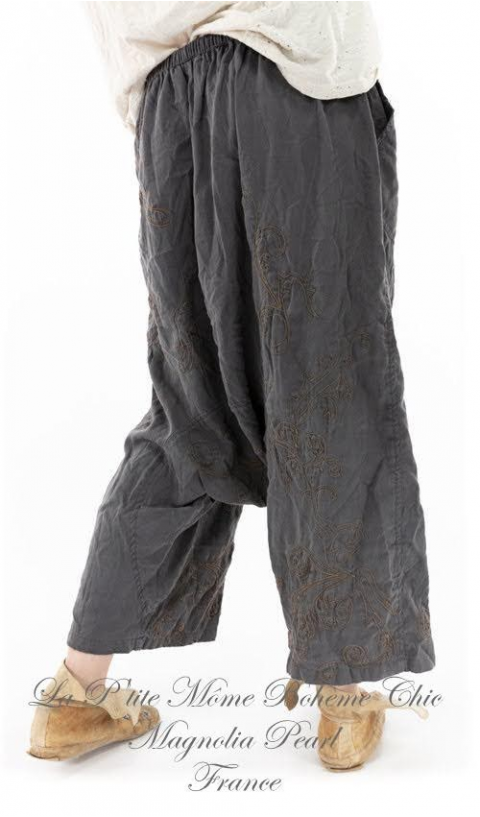 Dragon Garcon Pants with Embroidery In Ozzy