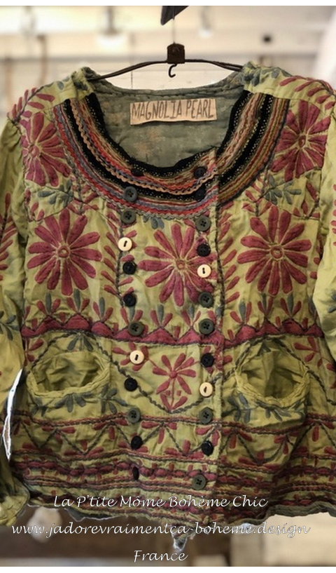 Lennon Jacket, Embroidered With Pockets