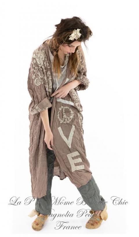 Blessed Un Kimono avec Broderies & Détail en Appliqué