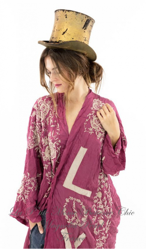 BLESSED kimono In Hibiscus & Embroideries