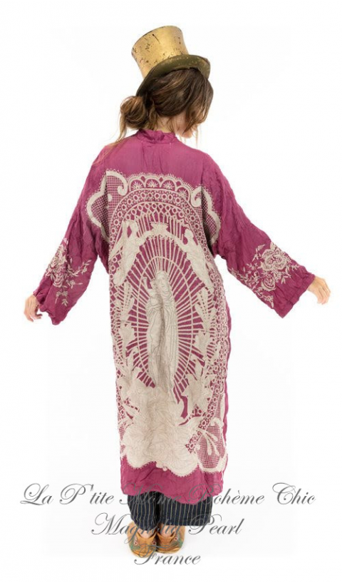 Blessed Un Kimono En Hibiscus, Broderies & Détail en Appliqué