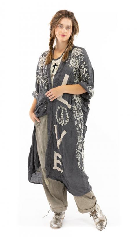Blessed Un Kimono En Midnight, Broderies & Détail en Appliqué