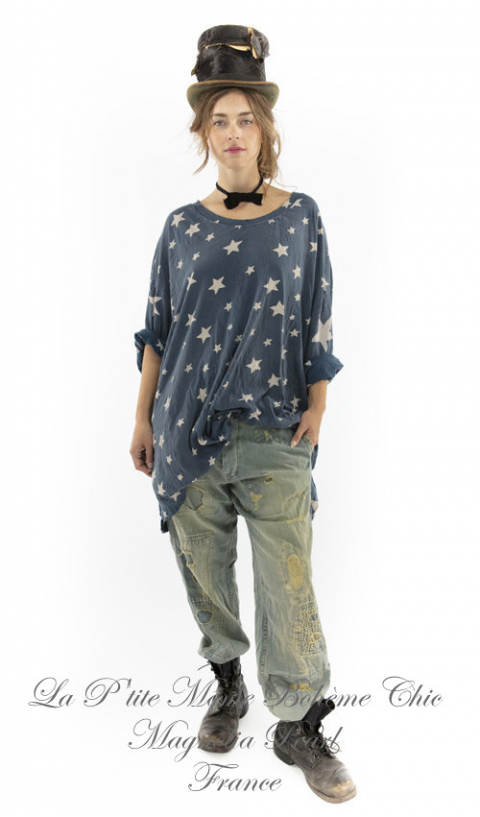 Galaxy Francis Oversize Star Print Pull-Over In Aratus