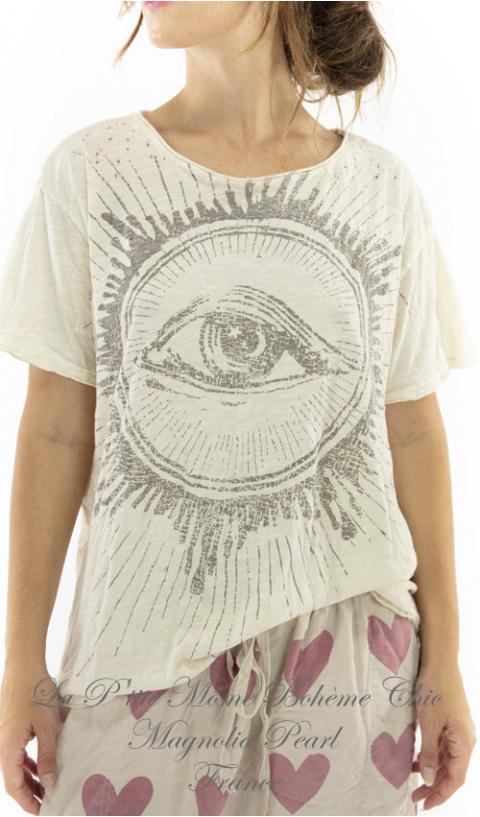 Rays of Glory T-Shirt Coupe Boyfriend en Moonlight