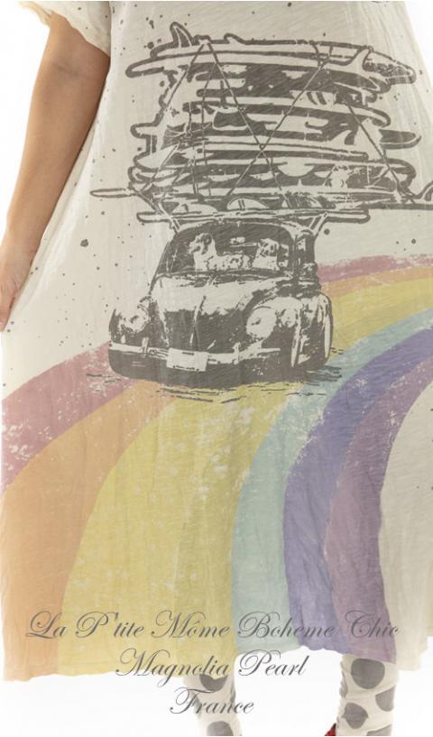 HAPPY Robe T-Shirt En Moonlight, Coupe Boyfriend
