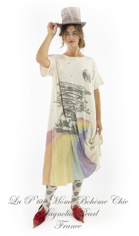 Happy Tee Dress in Moonlight & Color Print