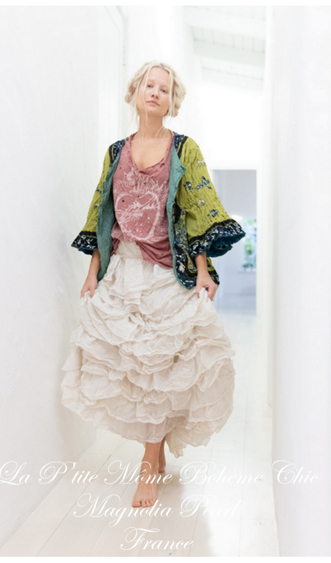Isabeau kimono with Embroidery In Agave