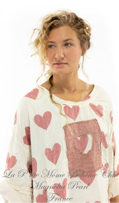 Francis sweat shirt In Crush with Heart Patches