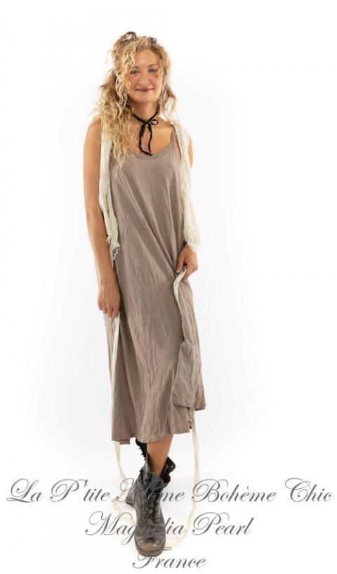 Lana Tank Cotton Jersey Dress in Clay