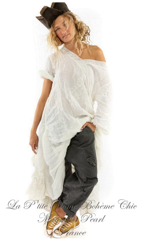Linen Ramie Embroidered Mattie Belle Dress with Ruffle