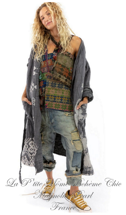 QUILTED Native Art ORO Coat In Ozzy + Hand Print