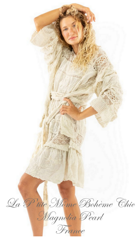 Lace Poelle Tunic with Embroidery In Moonlight