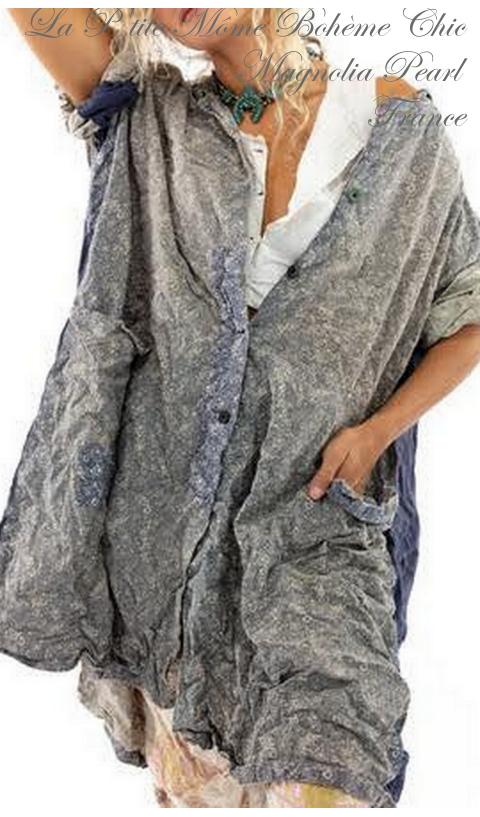 Johanna Une Robe boutonné avec poches et Patches en Foothills