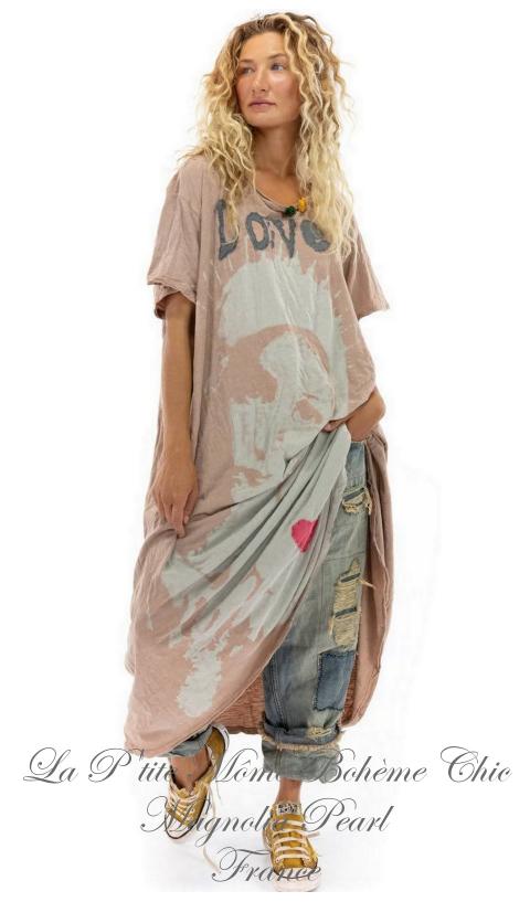 Massabielle Robe T-Shirt En Dandy, Coupe Boyfriend