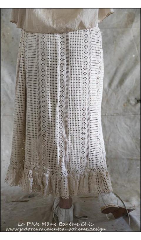 Cosi....Crochet Cotton Skirt...A Bohemian Beauty