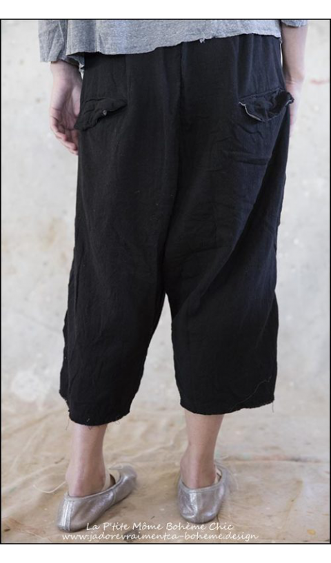 Alexandr Woven Cotton Trousers with Drop Rise