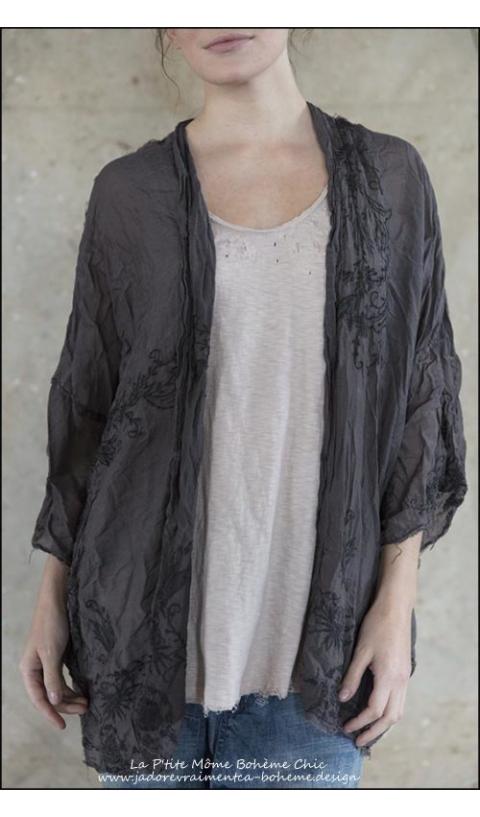 Cleo Kimono en soie....Un MUST