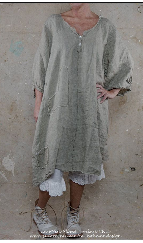Linen Nell Dress Graphite