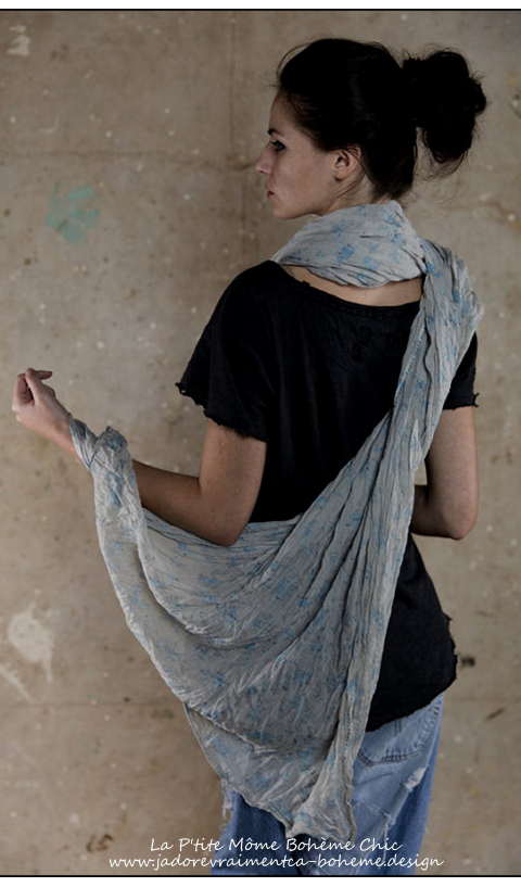 Polina Scarf Forget Me Not