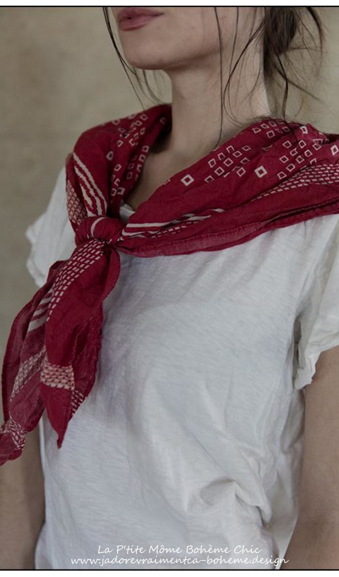 Foulard...Carré-ou Bandana....Handkerchief 1865