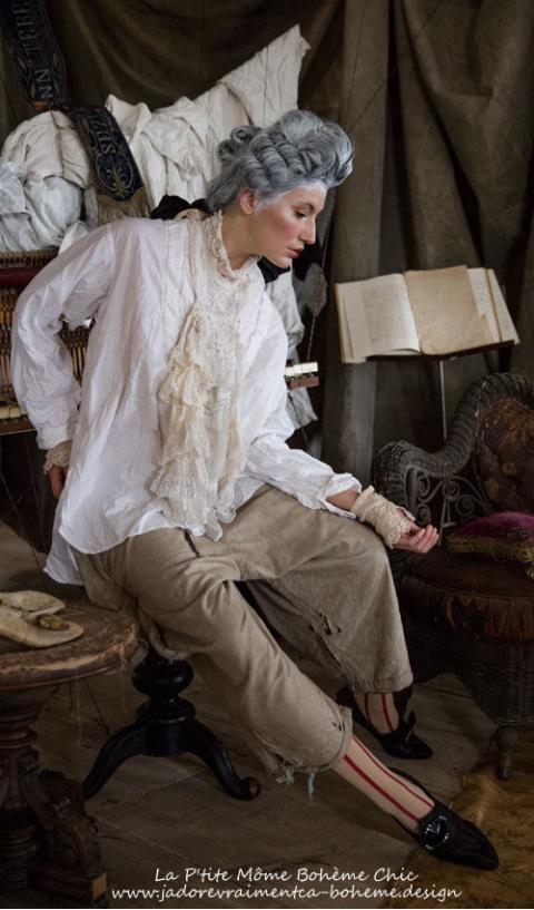 Nerys Jabot/Bijoux/écharpe entièrement en dentelle*Unique*