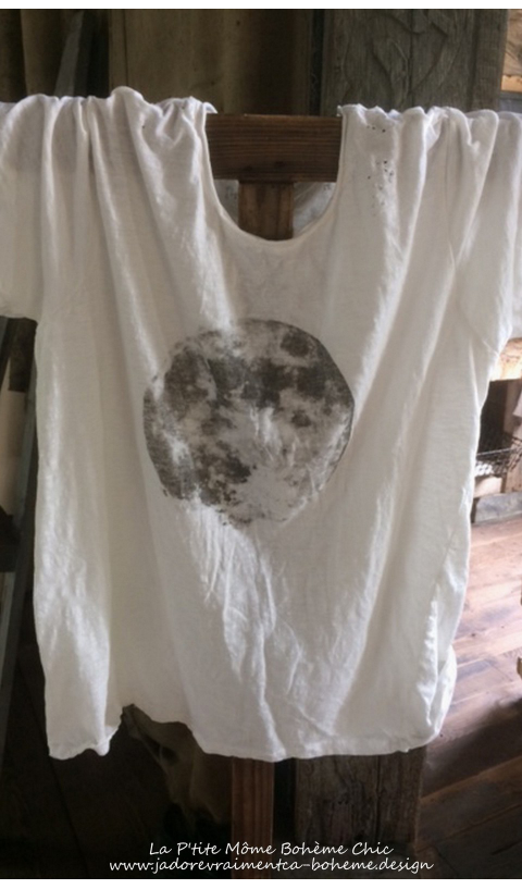 Moon Tee Shirt * La Lune S'invite