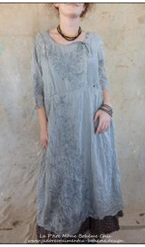 Rhone...Silk Dress with Embroidery