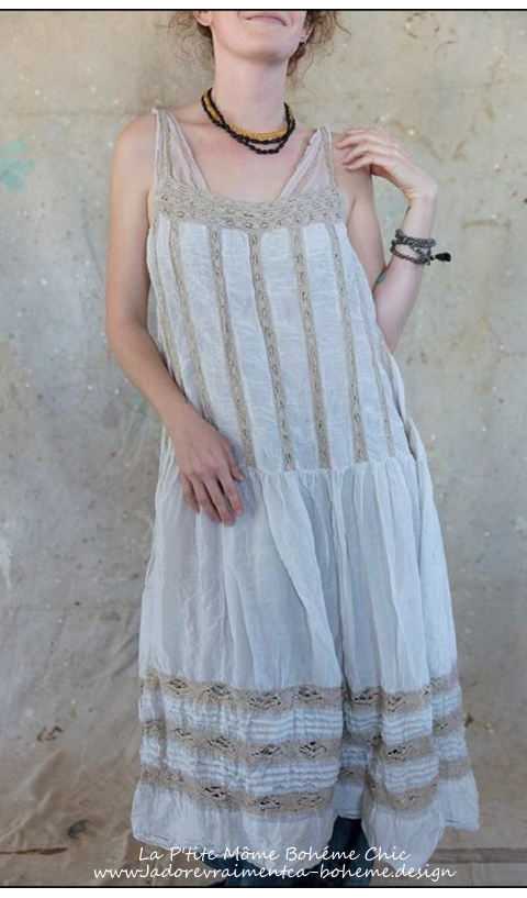 Amaia Dress in Pink and Cotton Lace